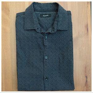 Alfani Medium Black Short Sleeve Button Down